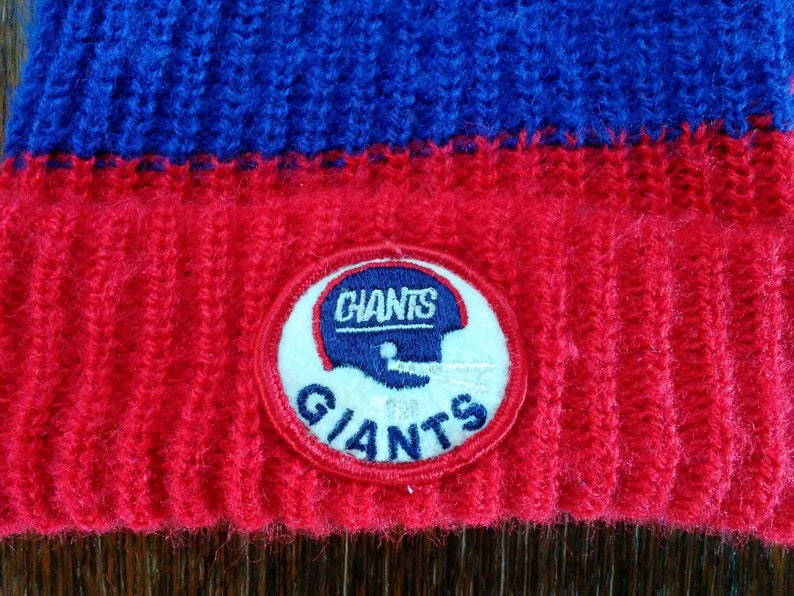 Vintage New York GIANTS Knit Hat skocking cap Ski wear skiing  d6aa5ad32