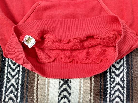 70s Track Hoodie vintage Hooded Sweatshirt Red Ki… - image 6