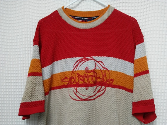 abafea49ac vintage South Pole knit Shirt waffle textured Hip Hop Rap