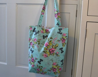 Floral Market Tote Shopping Tote Cottage Chic Tote