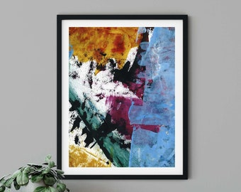 Multicolor Modern Abstract Art Print | Into the Mix | Hope Springs Eternal Art Series