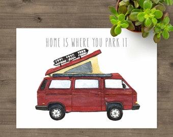 VW Vanagon Westfalia Red 1987 Camper Van   Home Is Where You Park It