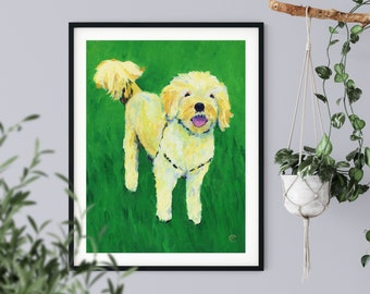 Goldendoodle Dog Art | Labradoodle Dog Painting
