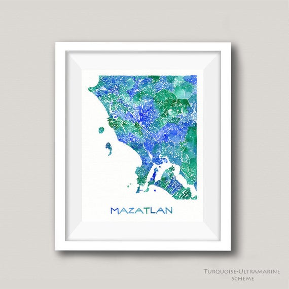 Where Is Mazatlan In Mexico Map.Mazatlan Map Mazatlan Mexico Map Personalized Map Art