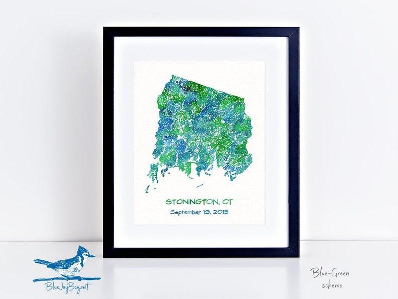Stonington Connecticut Personalized Map Stonington CT Map | Etsy