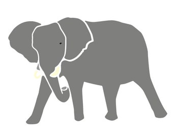 Elephant Stencil for Painting Kids or Baby Room Wall Mural (SKU154-istencil)