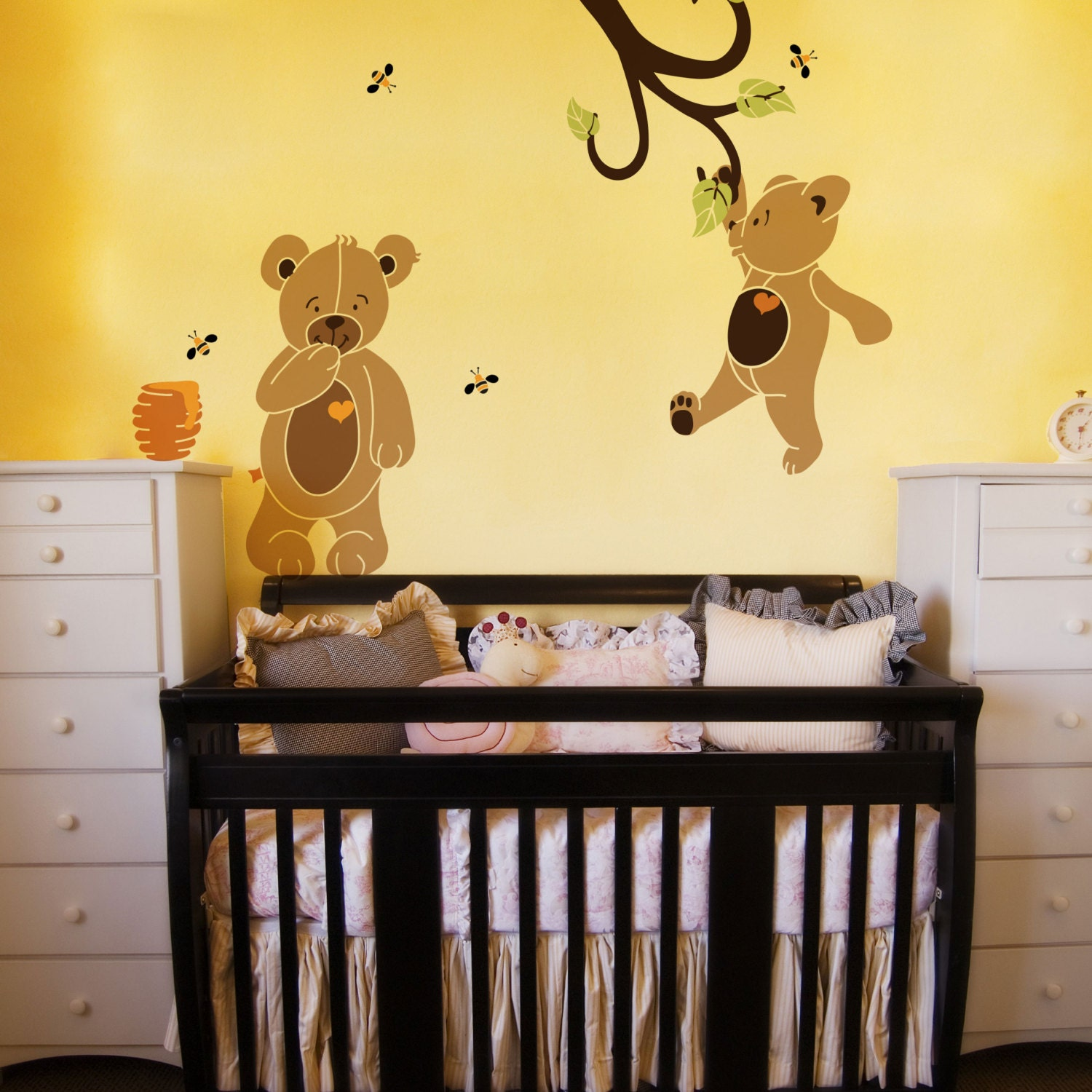 Teddy Bear Wall Stencils for Painting Bears in Baby Room Walls | Etsy
