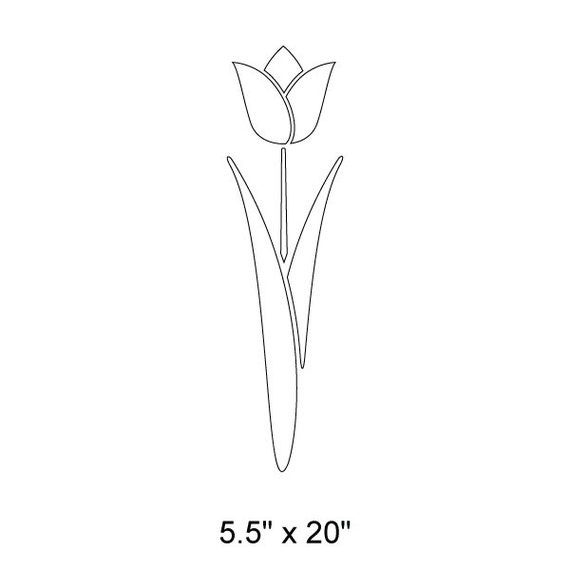 Tulip Flower Plant AIR Brush Painting Wall Art Crafts Stencil 3