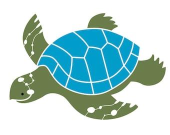 Pochoir mural tortue pour peinture pour enfant ou b b chambre - Pochoir mural chambre ...