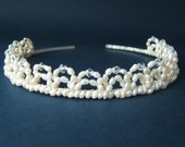 Fresh Water Pearls and Crystal Tiara