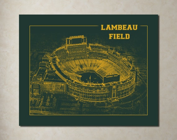 Print of Vintage Lambeau Field Seating Chart Seating Chart on Photo Paper, Matte paper or Canvas