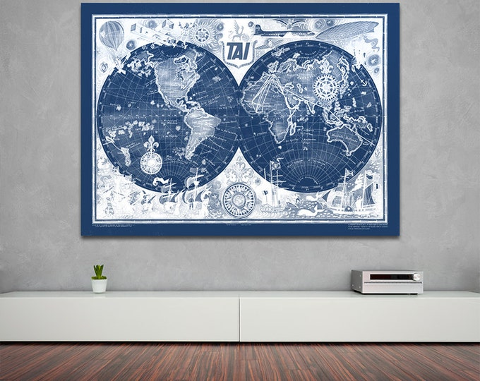 Vintage Antique French Transports International Print on Photo Paper Matte Paper Canvas Art Giclee Print