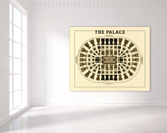 Vintage Print of The Palace Seating Chart on Premium Photo Luster Paper Heavy Matte Paper, or Stretched Canvas. Free Shipping!