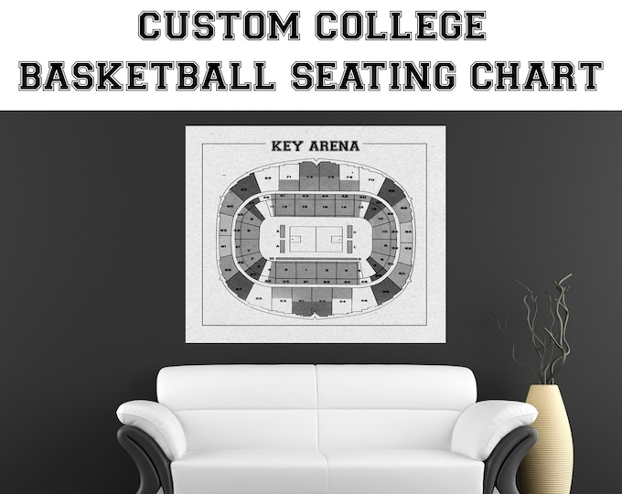 CUSTOM Any University Basketball Team or Court Printed to Fit Your Exact Specifications! See Description for Details.