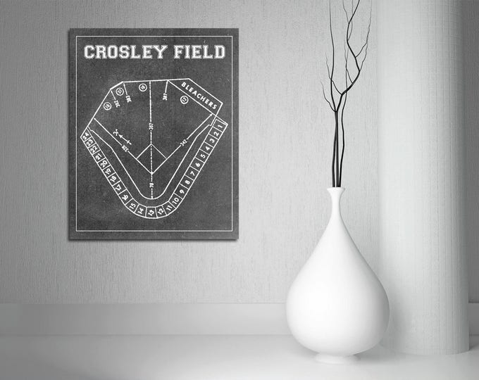 Print of Vintage Crosley Field Seating Chart on Photo Paper, Matte paper or Canvas