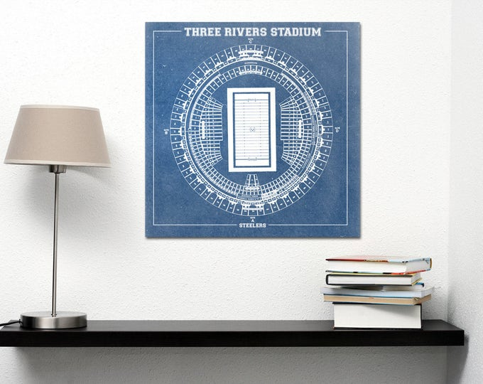 Print of Vintage Three Rivers Stadium Seating Chart Seating Chart on Photo Paper, Matte paper or Canvas