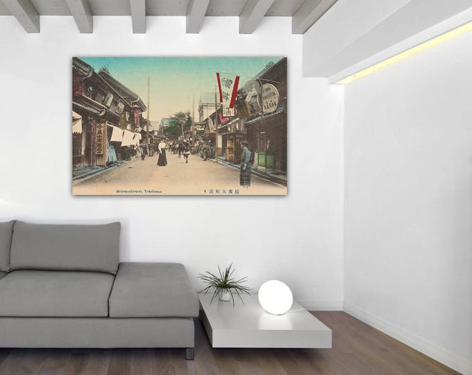 Print of Vintage Yokohama Photograph Antique Tokyo Japan on Your Choice of Matte Paper, Photo Paper or Stretched Canvas