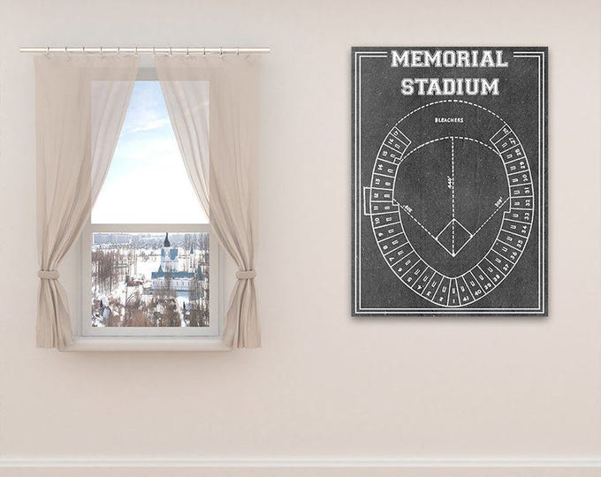 Print of Vintage Baltimore Orioles Memorial Stadium Seating Chart on Photo Paper, Matte paper or Canvas