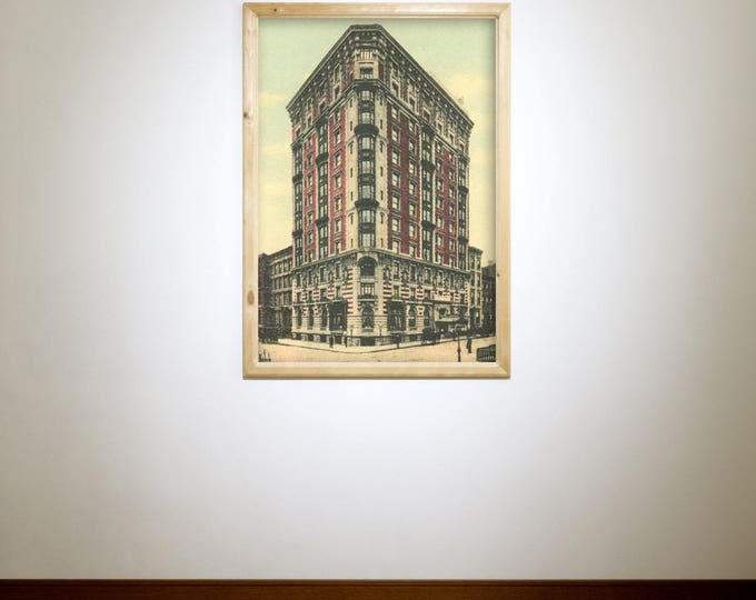 Antique Vintage Style Print of Hotel Seville on Your Choice of Matte Paper, Photo Paper or Stretched Canvas