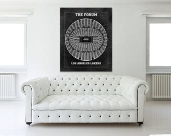 Vintage Print of The Forum Seating Chart on Premium Photo Luster Paper Heavy Matte Paper, or Stretched Canvas. Free Shipping!