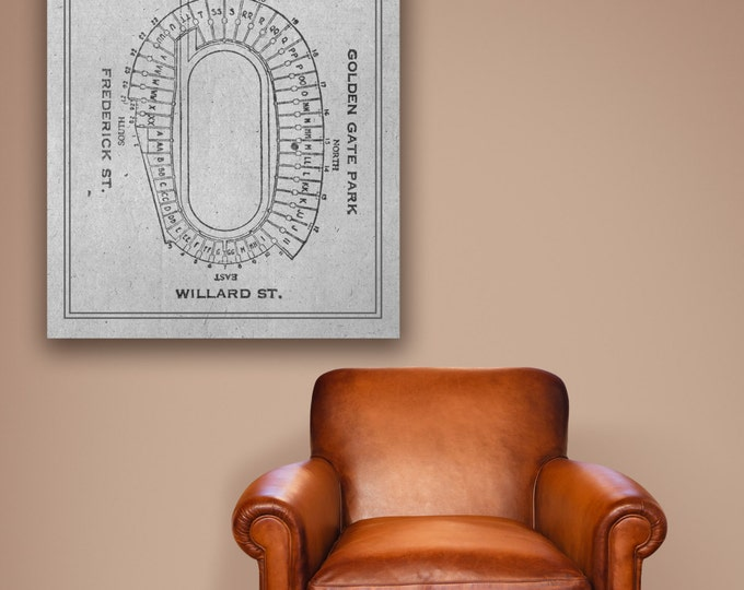 Vintage Print of Kenzar Stadium Seating Chart on Photo Paper, Matte Paper, or Canvas
