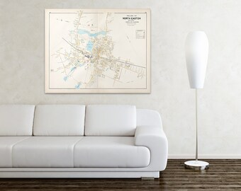 Print of Antique Map of North Easton Massachusetts on Photo Paper, Matte Paper and Stretched Canvas