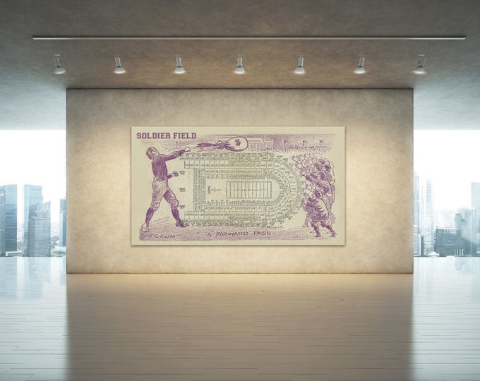 Print of Vintage Soldier Field Seating Chart Seating Chart on Photo Paper, Matte paper or Canvas