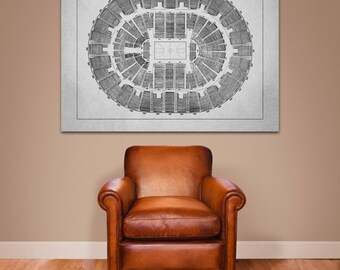 Vintage Print of Orlando Arena Seating Chart on Premium Photo Luster Paper Heavy Matte Paper, or Stretched Canvas. Free Shipping!