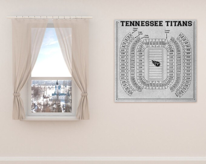 Print of Vintage Nissan Stadium Seating Chart Seating Chart on Photo Paper, Matte paper or Canvas