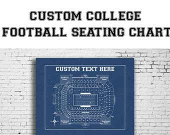 CUSTOM Any University Football Team Printed to Fit Your Exact Specifications! See Description for Details.