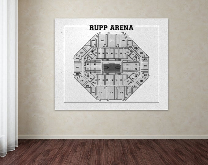 Vintage Print of Rupp Arena Seating Chart on Photo Paper, Matte Paper, or Stretched Canvas