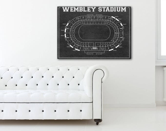 Print of Vintage Wembley Stadium Seating Chart Seating Chart on Photo Paper, Matte paper or Canvas
