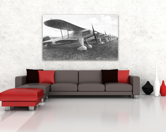 Print of Vintage Airplane on Your Choice of Photo Paper, Matte Paper or Stretched Canvas