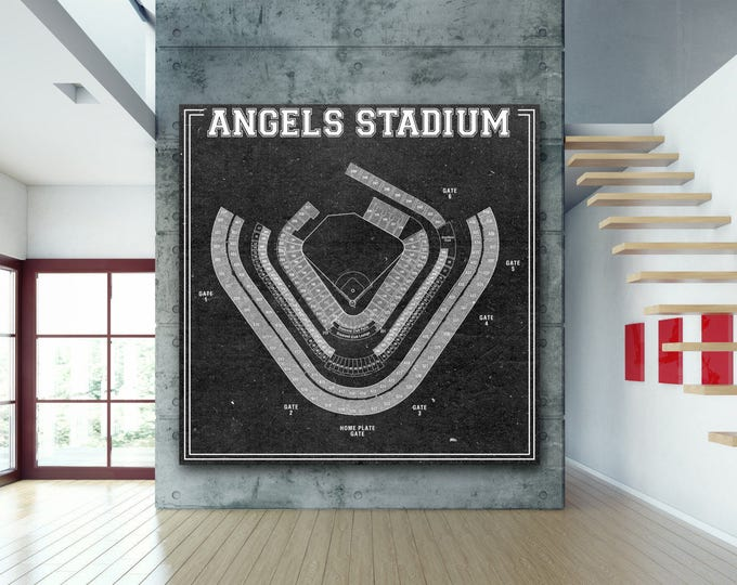 Print of Vintage Angel Stadium Seating Chart Seating Chart on Photo Paper, Matte paper or Canvas
