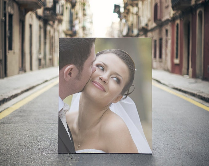 Your Wedding Photographs and Vows on Canvas, Photo, or Matte! Custom Text/Vows Fitted For Your Image!