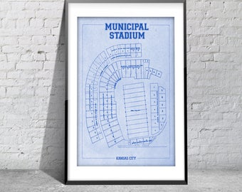 Print of Vintage Kansas Municipal Seating Chart Seating Chart on Photo Paper, Matte paper or Canvas
