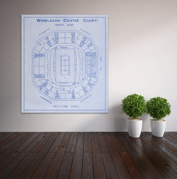 Print of Vintage Wimbledon Center Seating Chart Seating Chart on Photo Paper, Matte paper or Canvas