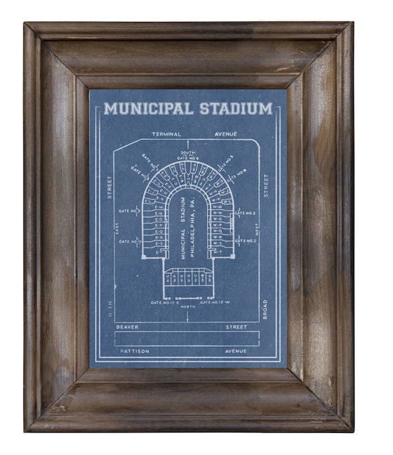 Print of Vintage Philidelphia Municipal Stadium  Seating Chart Seating Chart on Photo Paper, Matte paper or Canvas