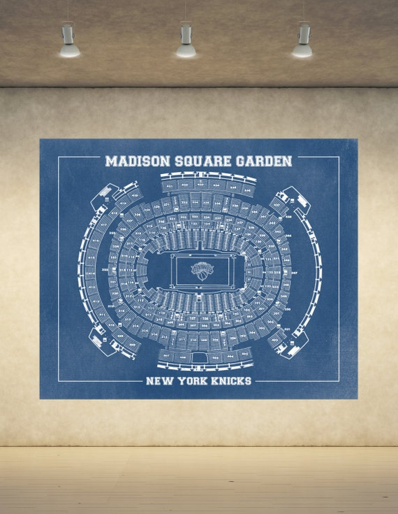 Vintage Print of Madison Square Garden Seating Chart on Premium Photo Luster Paper Heavy Matte Paper, or Stretched Canvas. Free Shipping!