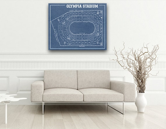 Vintage Print of Olympia Stadium Seating Chart on Photo Paper, Matte Paper, or Canvas