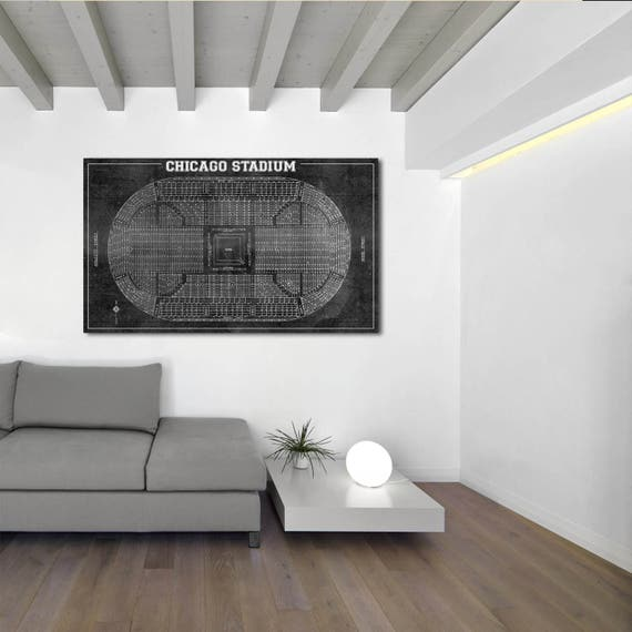 Print of Vintage Chicago Stadium Ring Arena Seating Chart Seating Chart on Photo Paper, Matte paper or Canvas