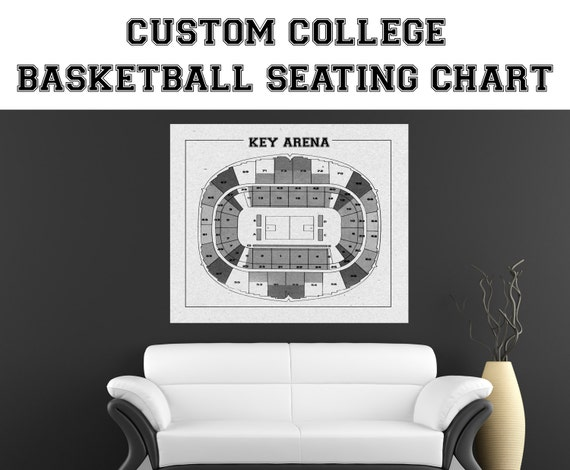 CUSTOM Any University Basketball Team Printed Paper or Canvas, Man Cave, wall decor, Coach Gift, College Dorm, College Decorations, Alumni
