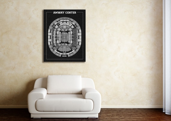 Vintage Print of Amway Center Seating Chart on Premium Photo Luster Paper Heavy Matte Paper, or Stretched Canvas. Free Shipping!