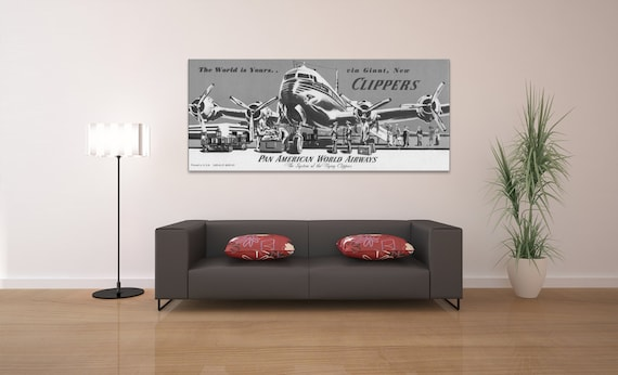 Vintage Antique Airplane Print on your choice of Photo Paper, Matte Paper or Canvas Giclee