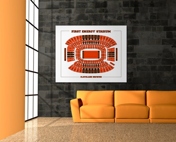 Print of Vintage Firstenergy Stadium Seating Chart Seating Chart on Photo Paper, Matte paper or Canvas