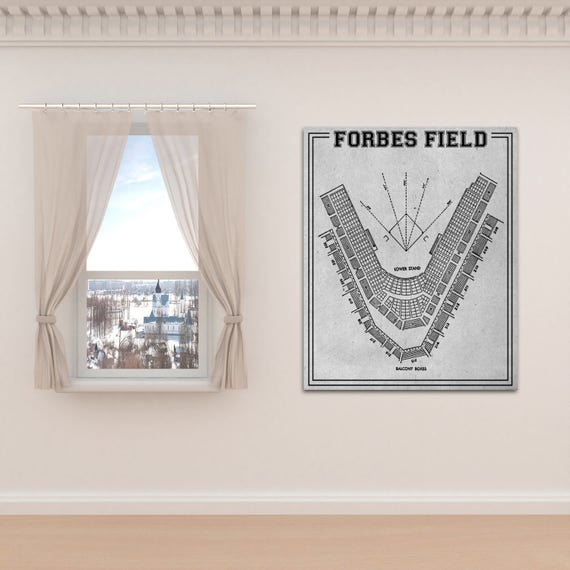 Print of Vintage Forbes Field Pittsburgh Pirates Baseball Seating Chart on Photo Paper, Matte paper or Stretched Canvas