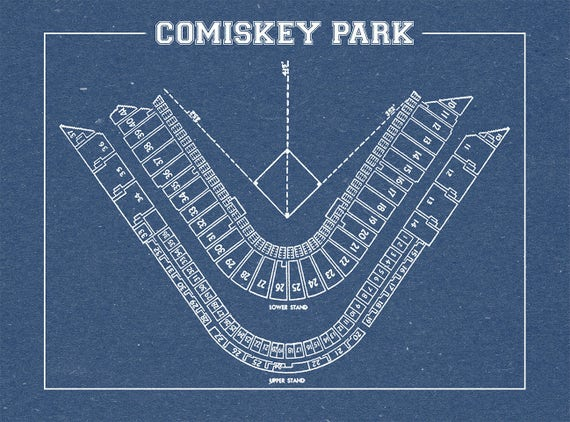 Groovy Vintage Print Of Comiskey Park Seating Chart Chicago White Sox Baseball Blueprint On Photo Paper Matte Paper Or Stretched Canvas Onthecornerstone Fun Painted Chair Ideas Images Onthecornerstoneorg