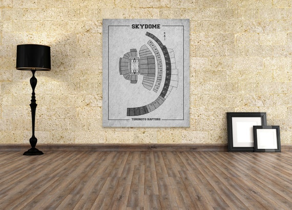 Vintage Print of Skydome Seating Chart on Premium Photo Luster Paper Heavy Matte Paper, or Stretched Canvas. Free Shipping!