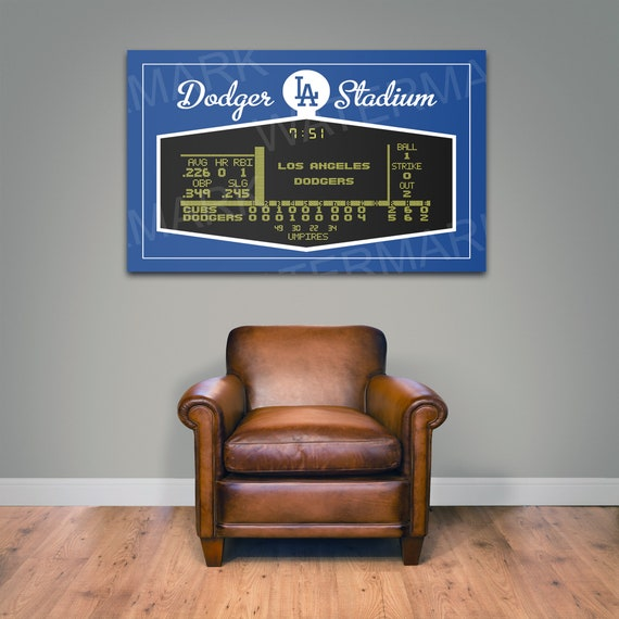 Print of Dodger Stadium Scoreboard! Available on Canvas, Matter paper, and Photo Paper.