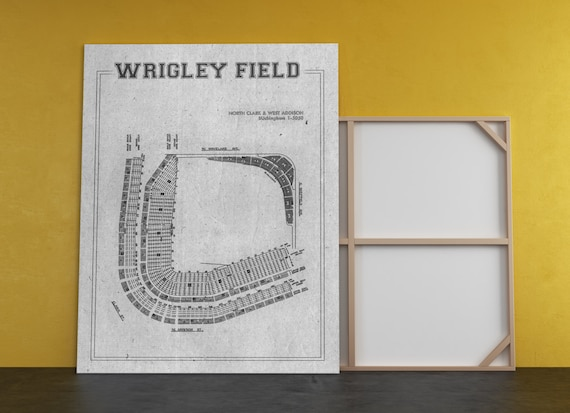 Print of Vintage Style Wrigley Field Seating Chart